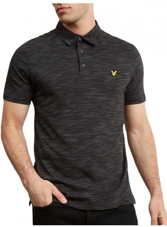 LYLE & SCOTT Space Dye Polo Shirt True Black