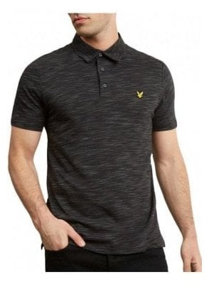 Space Dye Polo Shirt True Black