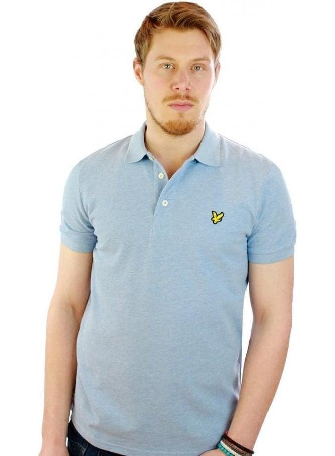LYLE & SCOTT Ss Polo Shirt Blue Marl