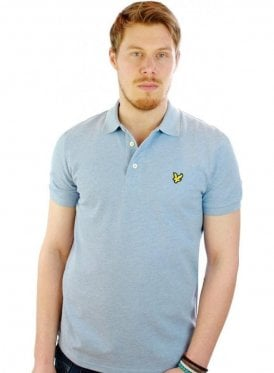Ss Polo Shirt Blue Marl
