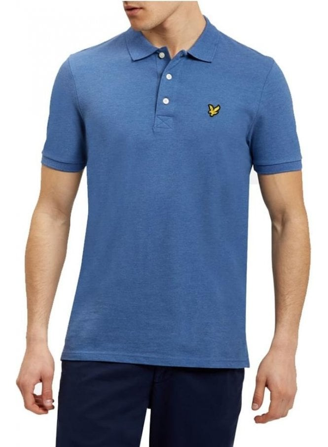 LYLE & SCOTT SS Polo Shirt Storm Blue Marl