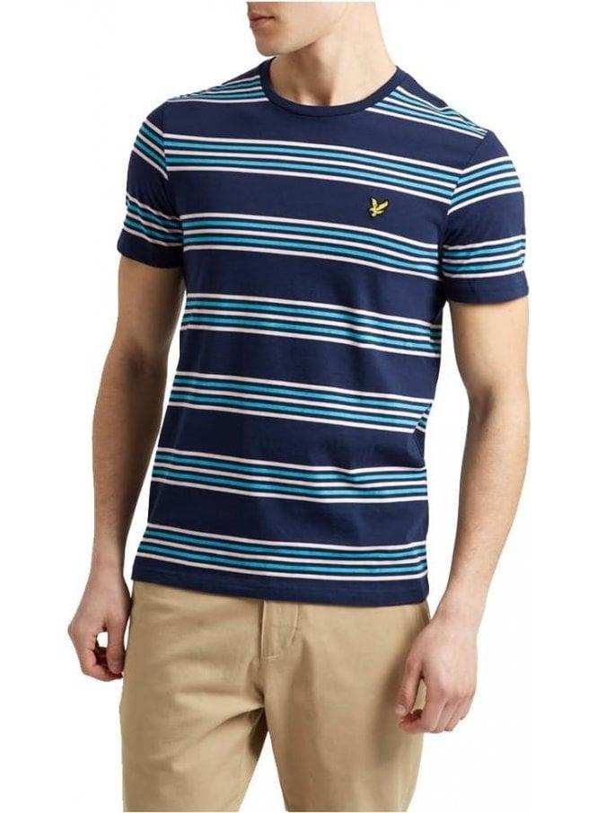 LYLE & SCOTT Stripe Tshirt Navy