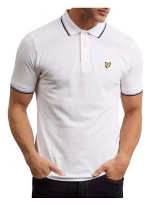 Tipped Polo Shirt White
