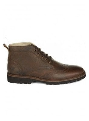 Whitrope Military Boot Dark Brown