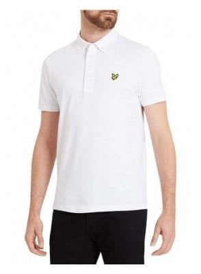 Lyle & Scott Woven Collar Polo Tshirt White