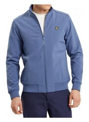 Zip Through Funnel Neck Soft Shell Jacket Storm Blue