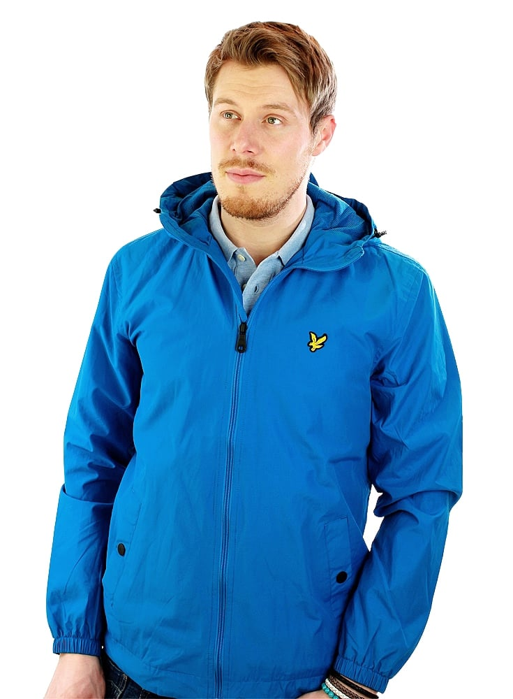 lyle scott zip through hooded jacket deep cobalt. Black Bedroom Furniture Sets. Home Design Ideas