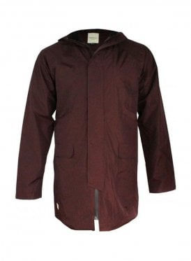 Seam Sealed Hooded Rain Mac Dark Claret