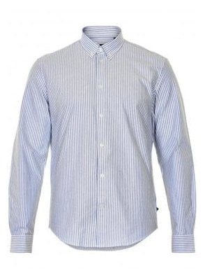 Jude Heavy Oxford Long Sleeved Shirt White/babyblue