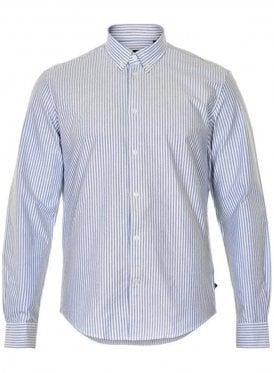 Jude Heavy Oxford Long Sleeved Shirt White/babyblue