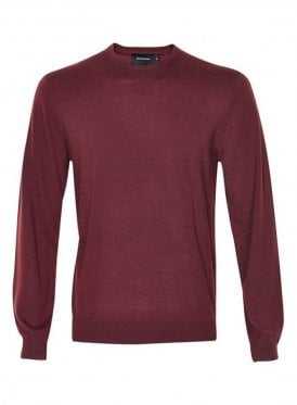 Margrate Fine Knit Merino Wool Jumper Burgundy