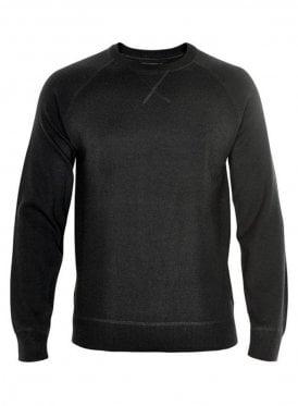 Sport Milano Stitch Chunky Knitwear Jump Black