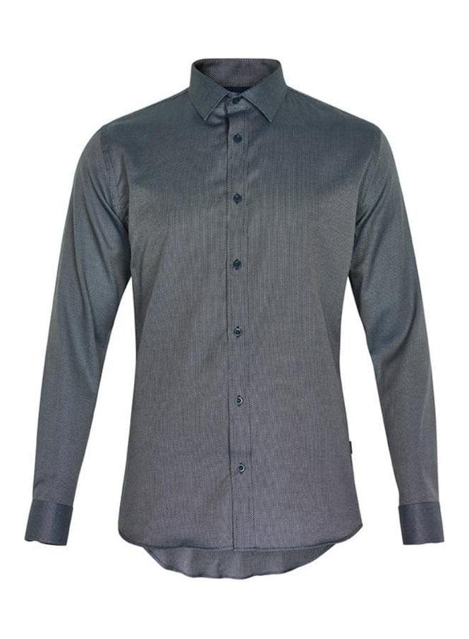 MATINIQUE Trostol Fleck Design Print Long Sleeved Legion Blue
