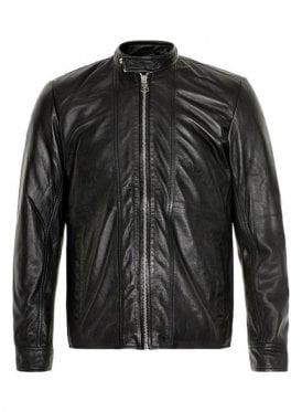 Wilfred Leather Biker Style Jacket Black