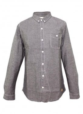 Native Youth Chambray Shirt Charcoal