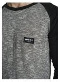 NICCE LONDON Nep Raglan Long Sleeved Tshirt Grey