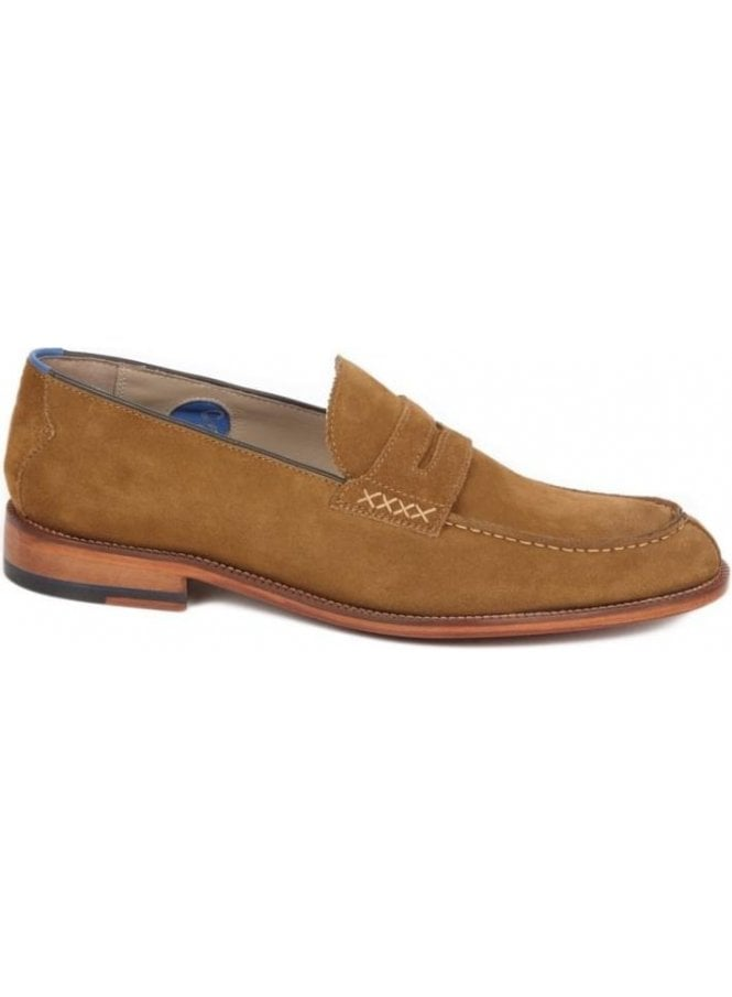 OLIVER SWEENEY Chatburn Loafer Suede Shoe Snuff