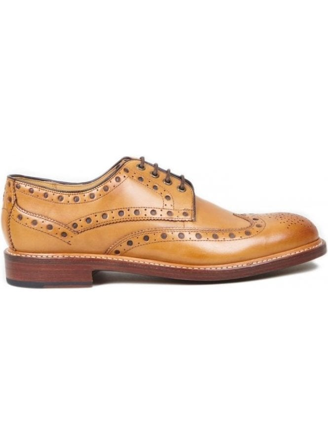 OLIVER SWEENEY Hasketon Leather Brogue Shoe Tan