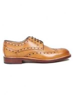 Hasketon Leather Brogue Shoe Tan