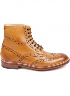 Wren Leather Sole Brogue Boot Tan