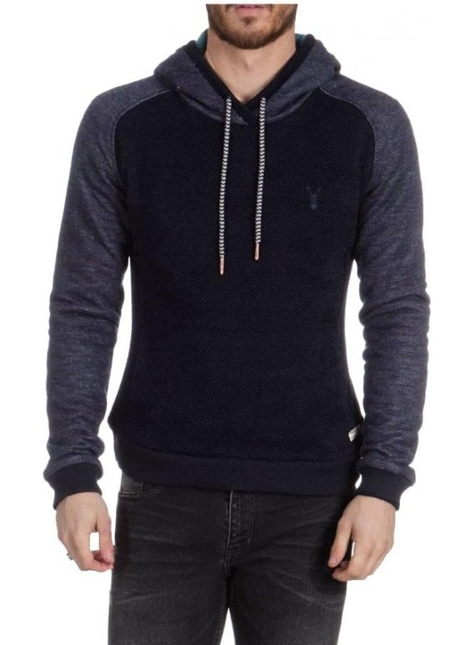 PEARLY KING Eclipse Chunky Over The Head Hoodie Navy