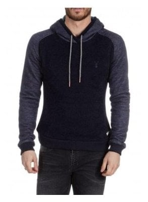 Eclipse Chunky Over The Head Hoodie Navy