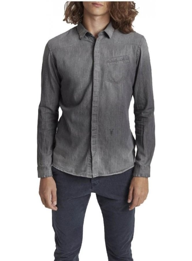 PEARLY KING Jargon Long Sleeve Shirt Grey
