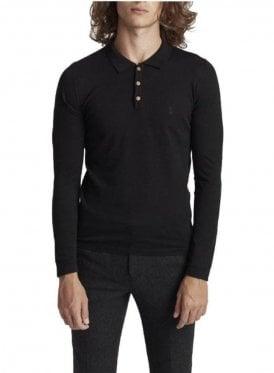Lure Long Sleeve Polo Jumper Black