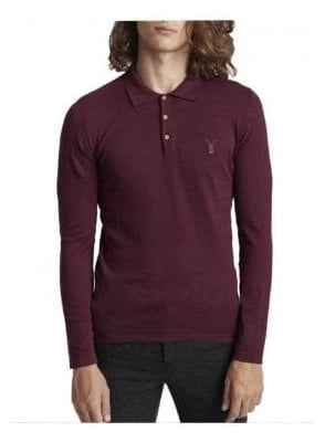Lure Long Sleeve Polo Jumper Burgundy