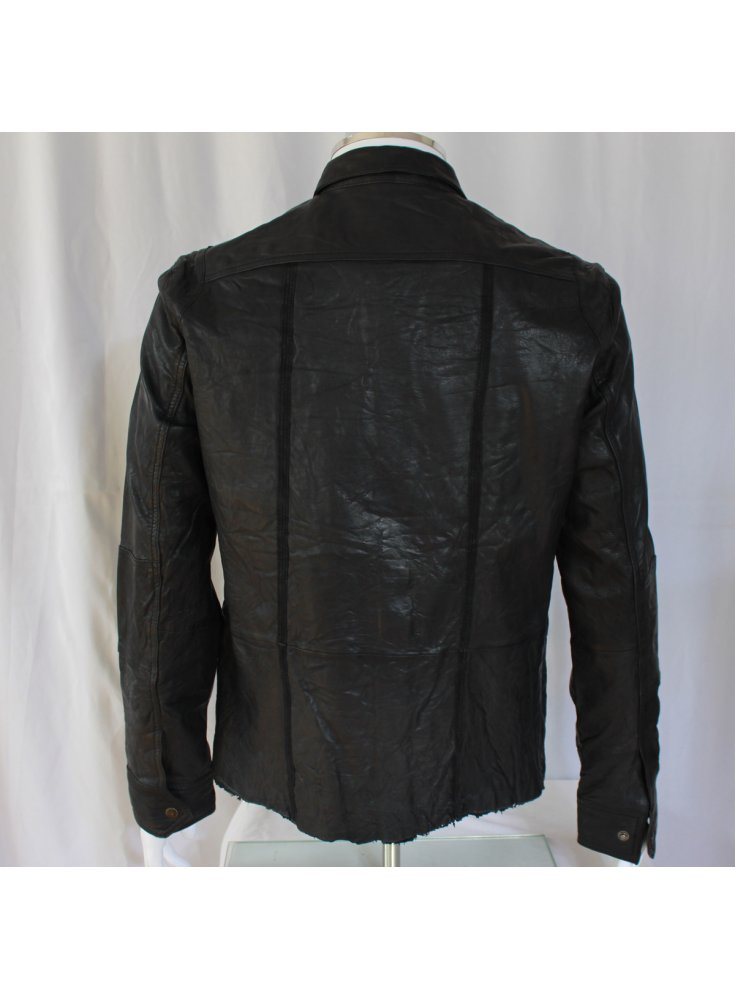 Torn leather jacket