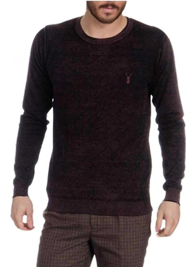 PEARLY KING Quincy Crew Neck Jumper Mud