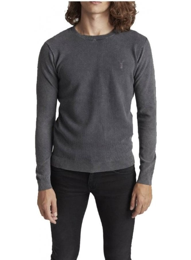 PEARLY KING Rare Crew Neck Jumper Charcoal