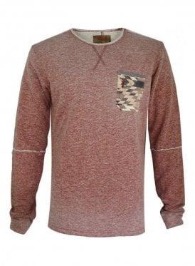 Temper Raw Edge Pocket Detail Marl Sweater Rust
