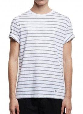 Clover Crew Neck Stripe Tshirt Grey