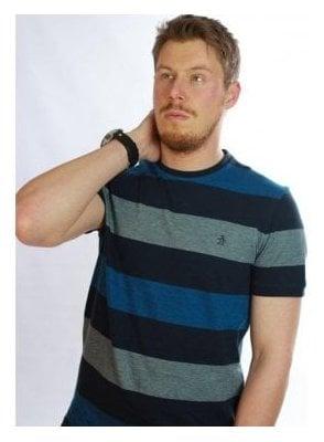 Penguin Birdseye Color Block Long Line Tshirt 413