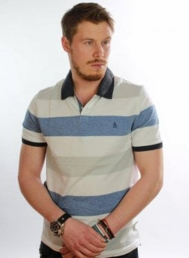 Birdseye Color Block Polo 118