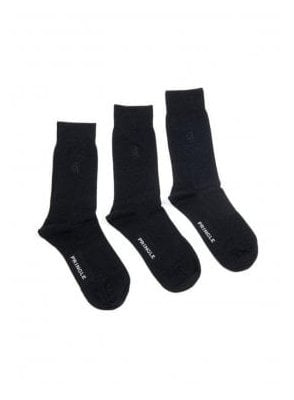 3 Pack Eckford Bamboo Socks Black