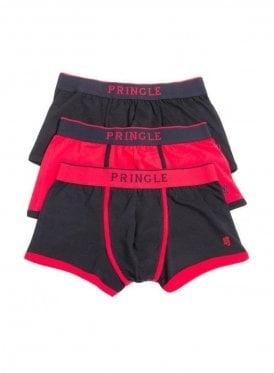 Black Label 3 Pack Boxer Trunk Black/Red