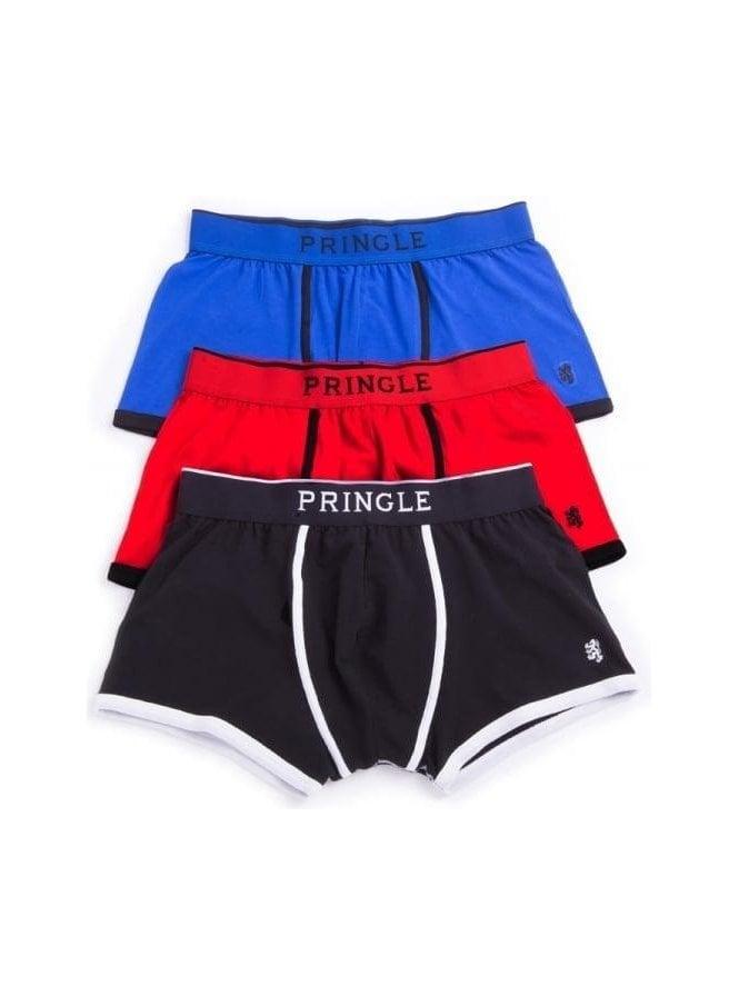 PRINGLE Black Label Boxer Trunk 3pack Blue/black/red