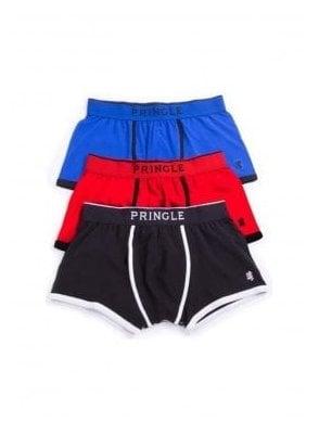 Black Label Boxer Trunk 3pack Blue/black/red