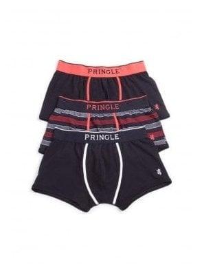 Black Label Trunk Boxer 3pack Plain/stripe/plain