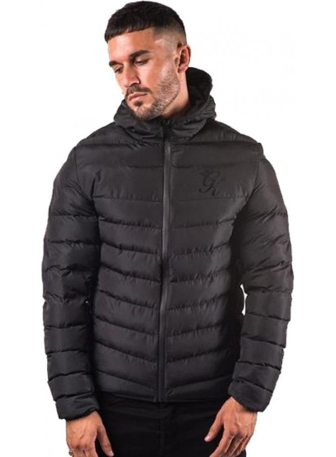 GYM KING Puffa Jacket Black