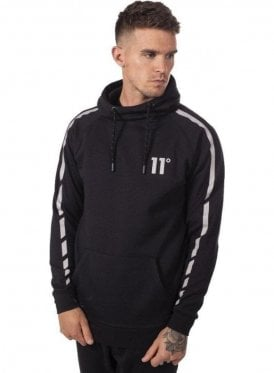 Reflective Pull Over Hoodie Black