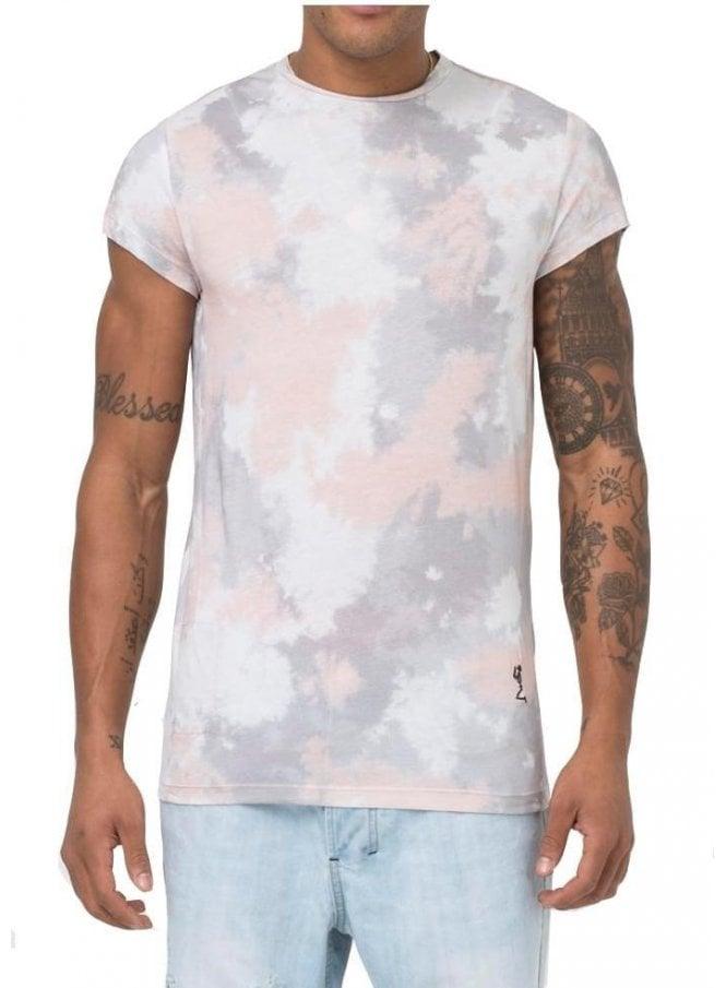RELIGION Camo Tie Dye Tshirt Pink
