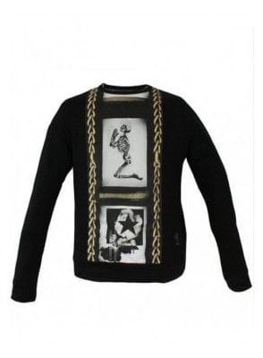 Chain Sweater Jet Black