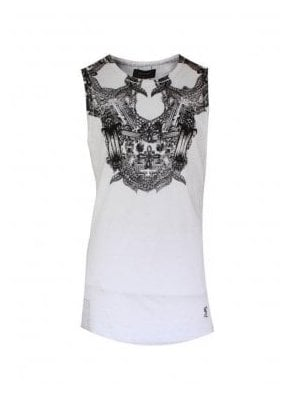 Encrusted Vest White (spring & summer 15)