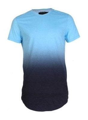 Gradient Stripe Tshirt Baby Blue
