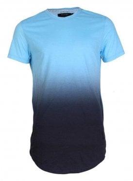 Gradient Stripe Tshirt Baby Blue