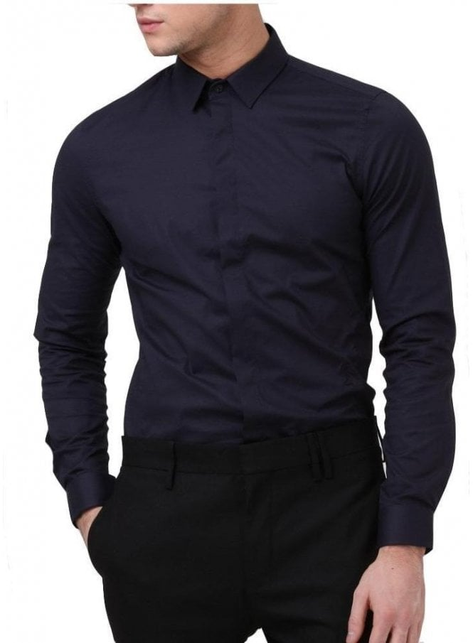 RELIGION Legion Long Sleeved Shirt Navy