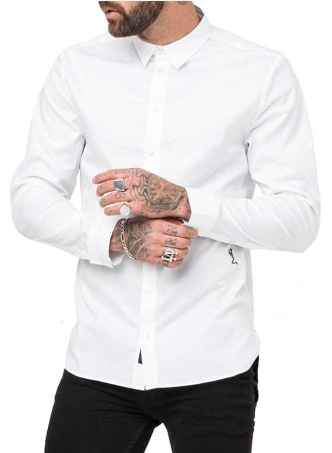 RELIGION Legion Long Sleeved Shirt White